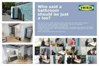 IKEA: Who said a bathroom should be just a loo? Ambient Advert by Grey United Milan