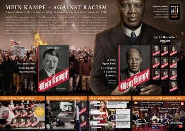 Gesicht Zeigen!: Mein Kampf - Against Racism ~ Mein Kampf - against racism [image] Outdoor Advert by Ogilvy & Mather Duesseldorf