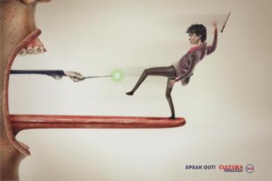 Cultura Inglesa: Harry Print Ad by Miami Ad School Rio de Janeiro