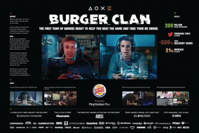 Burger King: Burger Clan [image] Digital Advert by Lola Madrid, Tronco