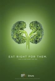 Fortis Healthcare: World Kidney Day - Broccoli Print Ad by Grey Mumbai