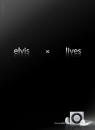 Ipod Shuffle: Elvis Print Ad by Bold Ogilvy & Mather Athens