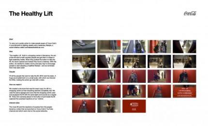 Coca-cola: STADISTICS - THE HEALTHY ELEVATOR Promo / PR Ad by *S,C,P,F... Madrid