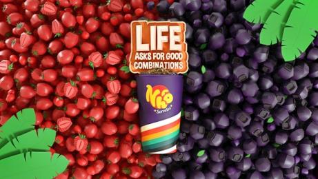 Nhô Sorvetes: Life Asks for Good Combinations - Strawberry and Açaí Print Ad by Maya Brazil