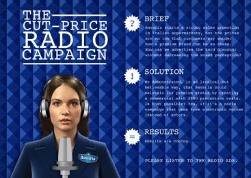 Bavaria Beer: CUT-PRICE RADIO CAMPAIGN Promo / PR Ad by Y&R Roma
