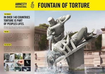 Amnesty International: Fountain Against Torture [image] Design & Branding by Scholz & Friends Berlin, Scholz & Friends Identify Berlin
