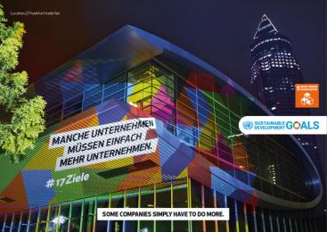 17Ziele: 17 Live Projections, 10 Print Ad by HUisHU. Digitale Kreativagentur, Hamburg & Hannover, Germany
