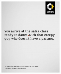 Smart Fortwo: Salsa class [image] Print Ad by BBDO Berlin