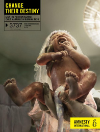 Amnesty International: Baby Bride Print Ad by Air Brussels