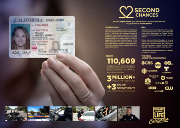 Donate Life California: Second Chances, 1 Print Ad by Casanova / McCann Costa Mesa