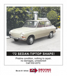 A-1 Driving School: USED CAR Print Ad by McCann Erickson Manila