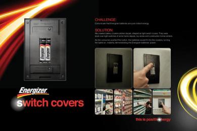 Energizer: SWITCH COVERS Design & Branding by Rai Sao Paulo