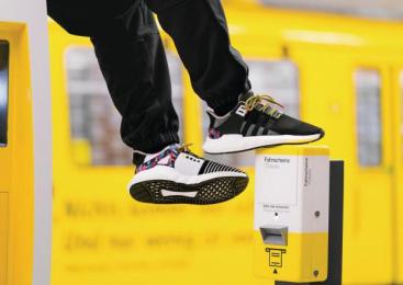 Bvg Berliner Verkehrsbetriebe: BVG x adidas – The ticket-shoe [Supporting Images], 3 Design & Branding by Jung Von Matt Germany