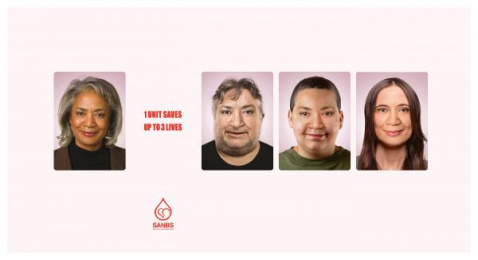 South African National Blood Service (SANBS): Faces 2 Print Ad by DDB Johannesburg