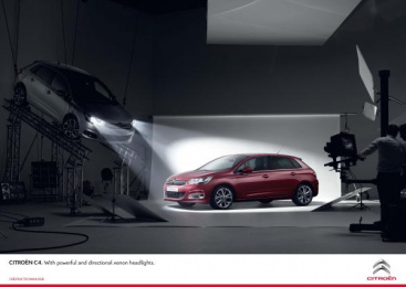 Citroen C4: RED Print Ad by H.