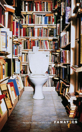 Fanatics Bookstore: LOO Print Ad by Harrison Human