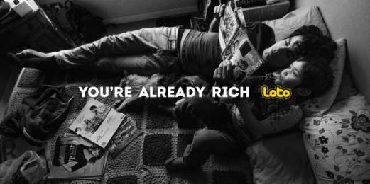 Loto: Rich People - Tale Print Ad by Prolam Y&R Santiago