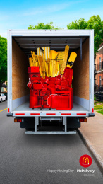 McDonald's: Happy Moving Day: Fries Print Ad by Cossette Montreal