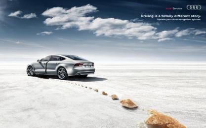Audi: Little Thumb navigation system Print Ad by Verba DDB Milan