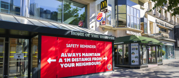 Burger King: Safety Reminder - Especially if he has a red nose Outdoor Advert by Buzzman Paris