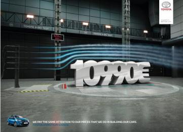 Toyota: Price, 2 Print Ad by Saatchi & Saatchi + Duke France
