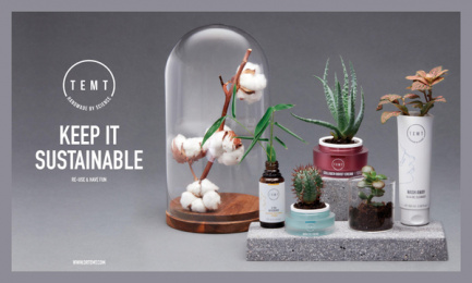 Temt: Aesthetic Chemistry: Keep It Sustainable Outdoor Advert by Misterwilson