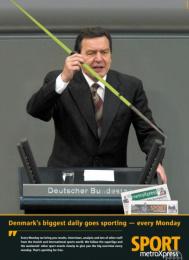 Daily Free Newspaper: GERHARD SCHRÖDER Print Ad by Umwelt