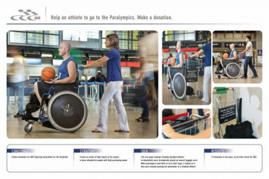 Sporting Association For The Disabled: LUGGAGE CART Promo / PR Ad by Age Comunicacoes Sao Paulo