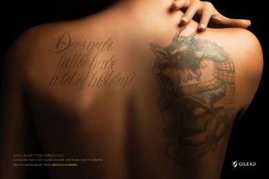 Gilead: Vintage Tattoo Print Ad by McCann Health Sao Paulo