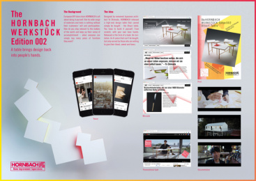 Hornbach: WERKSTÜCK Edition 002, 3 Print Ad by Heimat Berlin
