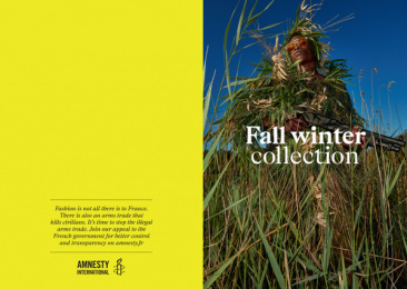 Amnesty International: Fashion & Arms, 1 Print Ad by DDB Paris, Handsome