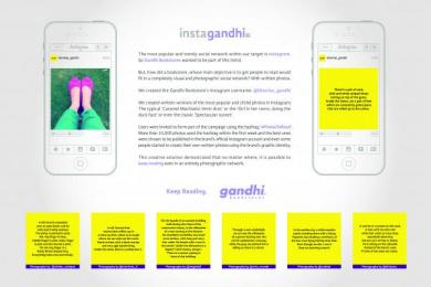 Gandhi Bookstores: INSTAGANDHI Promo / PR Ad by (anonimo) Mexico