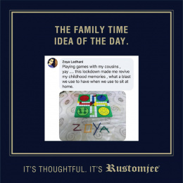 Rustomjee: The Family Time Idea Of The Day, 7 Digital Advert by Ideas@work