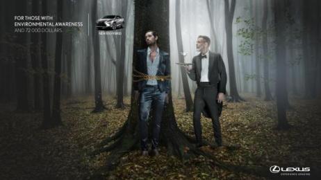 Lexus Rx: Forest Print Ad by Ogilvy & Mather Buenos Aires, P4 Ogilvy Panama, Struka