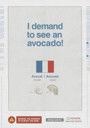 Toyota: Avocado Print Ad by Saatchi & Saatchi New Zealand