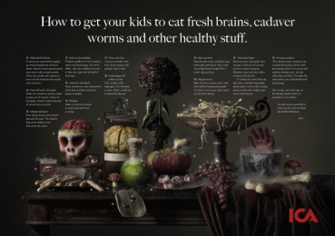 ICA: HEALTHY HALLOWEEN, 2 Print Ad by King