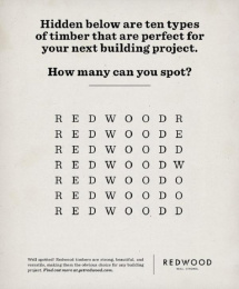 Humboldt Redwood: The Obvious Choice, 5 Print Ad by barrettSF