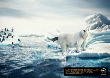Opel: Polar bear and penguin Print Ad by Scholz & Friends Hamburg