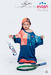 Evian: Oversize, 9 Print Ad by BETC