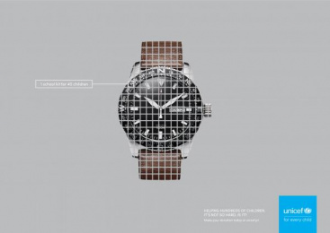 UNICEF (United Nations International Children's Emergency Fund): Watch Print Ad by Tux & Gill