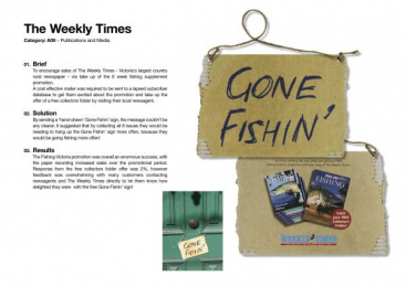 Weekly Times: GONE FISHIN' Direct marketing by Clemenger Proximity