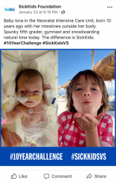 Sickkids Foundation: SickKids VS: #10YearChallenge, 4 Print Ad by Cossette Montreal