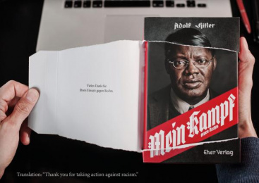 "Gesicht Zeigen!: The tear-open-mailing for ""Mein Kampf"" - against racism"", 4 Design & Branding by Ogilvy & Mather Frankfurt"