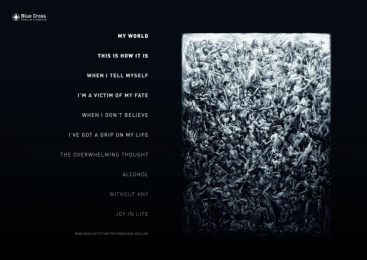 Blue Cross: Reverse Poems, 1 Print Ad by Serviceplan Munich