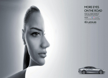 Lexus: More Eyes on the Road: Lexus LS Print Ad by Leo Burnett Cairo