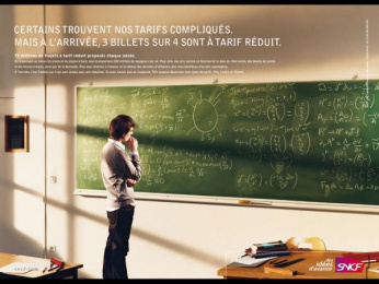 "Sncf: ""Complicated Rates"" Print Ad by TBWA Paris"