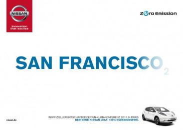 Nissan: San Francisco Print Ad by Jung von Matt/365 GmbH Hamburg Germany, TBWA\ Dusseldorf