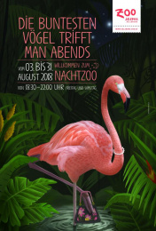 Salzburg Zoo: Flamingo Print Ad by dunkelblaufastschwarz Salzburg