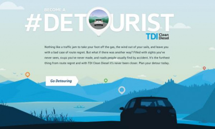 Volkswagen Tdi: Detourist Digital Advert by DDB Toronto, Tribal Toronto