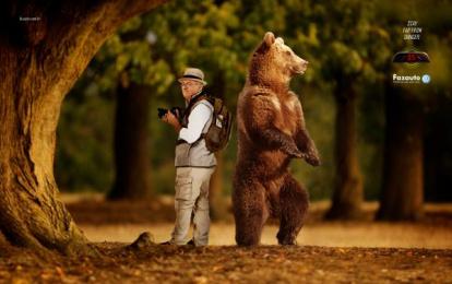 Fazauto: Bear Print Ad by G Marketing Comunicação